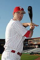 Feb 20, 2009; Clearwater, FL, USA; The Philadelphia Phillies infielder Chase Utley (26) during photoday at Bright House Field. Mandatory Credit: Tomasso De Rosa/ Four Seam Images