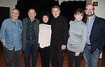 John Kander, Terrence McNally, Chita Rivera, John Cullum, choreographer, Ann Reinking and director, Carl Andress performing a Sneak Preview of 'The Visit' A One-Night-Only Broadway Concert Benefit Performance at Shetler Studios in New York City.
