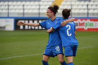 20190227 - LARNACA , CYPRUS : Italian midfielder Barbara Bonansea (left) and Italian midfielder Valentina Bergamaschi pictured during a women's soccer game between Mexico and Italy , on Wednesday 27 February 2019 at the Antonis Papadopoulos Stadium in Larnaca , Cyprus . This is the first game in group B for both teams during the Cyprus Womens Cup 2019 , a prestigious women soccer tournament as a preparation on the FIFA Women's World Cup 2019 in France and the Uefa Women's Euro 2021 qualification duels. PHOTO SPORTPIX.BE | STIJN AUDOOREN
