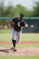 Chicago White Sox pitcher Andre Wheeler (47) delivers a pitch to the plate during an Instructional League game against the San Diego Padres on September 26, 2017 at Camelback Ranch in Glendale, Arizona. (Zachary Lucy/Four Seam Images)