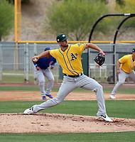 James Kaprielian - Oakland Athletics 2019 extended spring training (Bill Mitchell)
