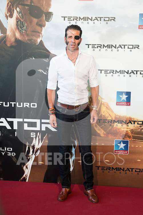 Matador Juan Jose Padilla attends to the premiere of Terminator Genesis at Kinepolis Cinema in Madrid, Spain. July 08, 2015.<br />  (ALTERPHOTOS/BorjaB.Hojas)