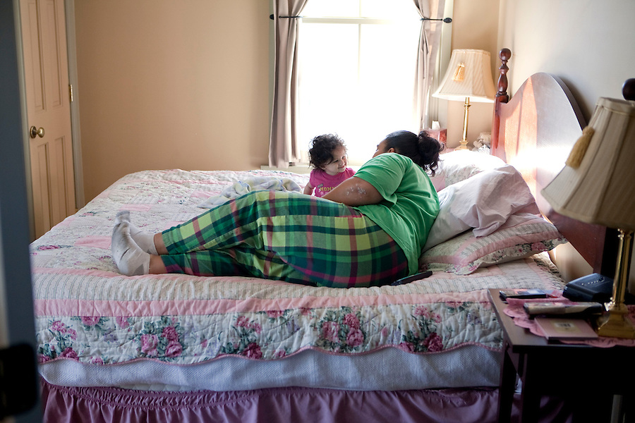 """""""I get to have these overnight visits with my daughter because of what I've done, of all the positive wonderful things I've done, and the judge acknowledges that and that's why i get these visits.""""  Brandi has earned the privilege of having her first solo and unsupervised overnight visit with her infant daughter, Patience.  Careful steps are taken during the reunification process intended to maximize the opportunity for Brandi's success to gain custody and form a stable family life.""""I have the opportunity to do the process slowly (learn parenting through The Mother Child Reunification House program).  I get to have an overnight with her and then somewhere down the line it will be more.  If I have any problems I have someone here to ask.  I can get as much knowledge about it before she comes home permanently."""""""
