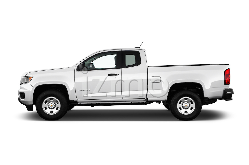 Car Driver side profile view of a 2017 Chevrolet Colorado 2WD wt Extended Cab 3 Door Pick-up Side View