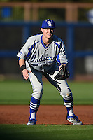 Indiana State Sycamores infielder Andy Young (16) during a game against the Vanderbilt Commodores on February 20, 2015 at Charlotte Sports Park in Port Charlotte, Florida.  Vanderbilt defeated Indiana State 3-2.  (Mike Janes/Four Seam Images)