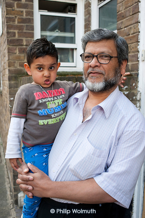 Yasin and Sajjat Miah live within the Safeguarding Area immediately adjacent to the HS2 high-speed rail construction site at Euston station.  Residents in the area are demanding compensation for the 10 years of construction work on the same basis as affected residents in rural areas.