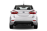 Straight rear view of 2017 Ford Fiesta SE 4 Door Sedan Rear View  stock images