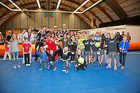 07-04-12, Netherlands, Amsterdam, Tennis, Daviscup, Netherlands-Rumania, Dubbels, Igor Sijsling en Jean-Julien Rojer