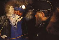 Robert Sorlie & Checker in Galena at Night