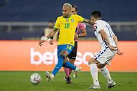 2nd July 2021; Nilton Santos Stadium, Rio de Janeiro, Brazil; Copa America, Brazil versus Chile; Neymar of Brazil sets up a shot on goal