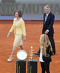 Queen Sofia of Spain and the Mutua Madrilena's President Ignacio Garralda during Madrid Open Tennis 2015 Final match.May, 10, 2015.(ALTERPHOTOS/Acero)