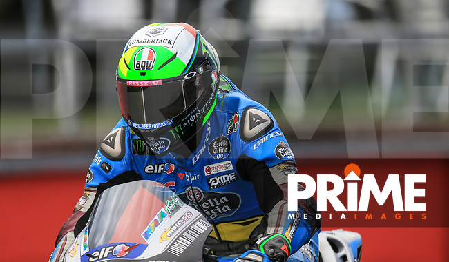 Franco Morbidelli (21) of the EG 0 0 Marc VDS (Honda) race team during the GoPro British MotoGP at Silverstone Circuit, Towcester, England on 26 August 2018. Photo by Chris Brown / PRiME Media Images