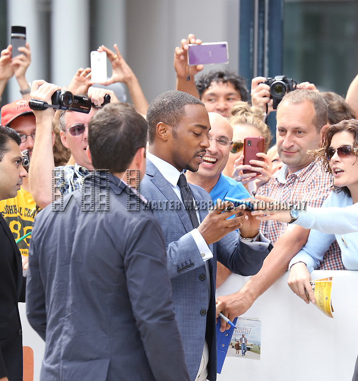Anthony Mackie arrives at  the 'Black and White' premiere during the 2014 Toronto International Film Festival at Roy Thomson Hall on September 6, 2014 in Toronto, Canada.