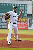Daytona Tortugas pitcher Amir Garrett (23) on the mound during a game against the Clearwater Threshers at the Jackie Robinson Ballpark on May 9, 2015 in Daytona, Florida. Clearwater defeated Daytona 7-0. (Robert Gurganus/Four Seam Images)