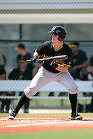 Pittsburgh Pirates catcher Reese McGuire (7) during an Instructional League intersquad scrimmage on September 29, 2014 at the Pirate City in Bradenton, Florida.  (Mike Janes/Four Seam Images)