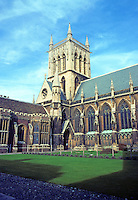 Cambridge: Chapel, St. John's College. Sir Gilbert Scott. Gothic Revival. Photo '82.