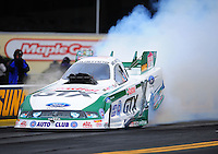 Oct. 2, 2011; Mohnton, PA, USA: NHRA funny car driver Mike Neff during the Auto Plus Nationals at Maple Grove Raceway. Mandatory Credit: Mark J. Rebilas-