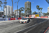2017 IMSA WeatherTech SportsCar Championship<br /> BUBBA burger Sports Car Grand Prix at Long Beach<br /> Streets of Long Beach, CA USA<br /> Saturday 8 April 2017<br /> 93, Acura, Acura NSX, GTD, Andy Lally, Katherine Legge<br /> World Copyright: Richard Dole/LAT Images<br /> ref: Digital Image RD_LB17_333