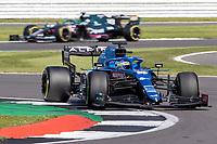 18th July 2021; Silverstone Circuit, Silverstone, Northamptonshire, England; Formula One British Grand Prix, Race Day; Alpine F1 Team driver Fernando Alonso in his Alpine A521 Renault E-Tech 20B