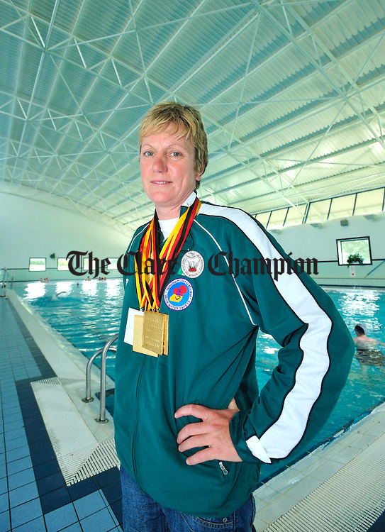 Three time gold medal winner and two time world recordholder Norma Harris pictured at the Ennis Leisure Complex on Tuesday. Photograph by Declan Monaghan