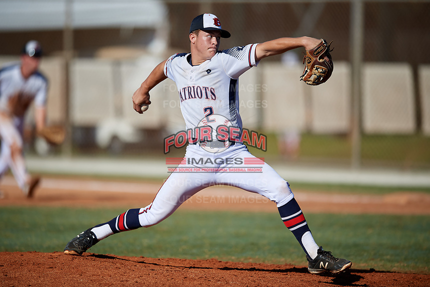 James Adcox during the WWBA World Championship at the Roger Dean Complex on October 21, 2018 in Jupiter, Florida.  James Adcox is a right handed pitcher from Dallas, Texas who attends Lyman Ward Military Academy.  (Mike Janes/Four Seam Images)