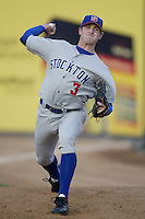Josh Hall of the Stockton Ports warms up before pitching during a California League 2002 season game against the San Bernardino Stampede at San Manuel Stadium, in San Bernardino, California. (Larry Goren/Four Seam Images)