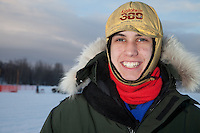 2011 Winner Jeremiah Klejka at the start of the Junior Iditarod  at Knik Lake, Knik, Alaska