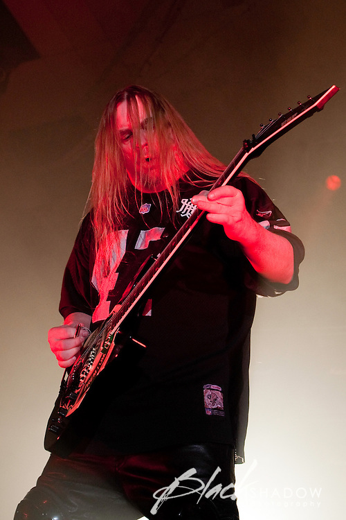Jeff Hanneman of Slayer performing at Festival Hall, Melbourne, 9 October 2009