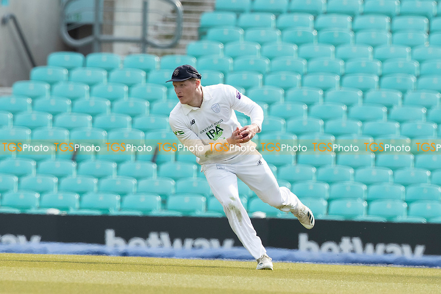 Tom Alsop, Hampshire CCC fields in the deep during Surrey CCC vs Hampshire CCC, LV Insurance County Championship Group 2 Cricket at the Kia Oval on 30th April 2021