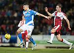 St Johnstone v Rangers…28.12.16     McDiarmid Park    SPFL<br />Graham Cummins holds off Clint Hill<br />Picture by Graeme Hart.<br />Copyright Perthshire Picture Agency<br />Tel: 01738 623350  Mobile: 07990 594431