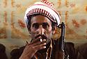 Iran 1979.Portrait of a peshmerga in Ziweh Iran 19 Portrait d'un peshmerga dans le camp de Ziwa