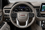 Car pictures of steering wheel view of a 2021 GMC Yukon-XL SLT 5 Door SUV Steering Wheel