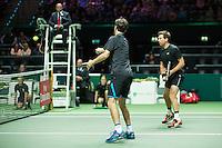 Rotterdam, The Netherlands, February 13, 2016,  ABNAMROWTT, Alexander Peya (AUT), Philipp Petzschner (GER)<br /> Photo: Tennisimages/Henk Koster