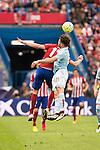 Atletico de Madrid's Saul and Celta de Vigo's Planas during La Liga Match at Vicente Calderon Stadium in Madrid. May 14, 2016. (ALTERPHOTOS/BorjaB.Hojas)
