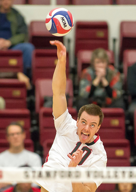 Stanford, CA - UC Irvine at Stanford Men's Volleyball at Maples Pavilion, February 8, 2014
