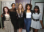 """Kirsten Wyatt, Nita Whitaker, Maddie Shea Baldwin, Liisi LaFontaine and Loren Lott backstage after a Song preview performance of the Bebe Winans Broadway Bound Musical """"Born For This"""" at Feinstein's 54 Below on November 5, 2018 in New York City."""