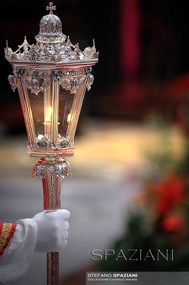 candelabrum Candelabro;candeliere;Pope Benedict XVI holds a mass and bestows the pallium on 44 new metropolitan archbishops at Saint Peter's Basilica during the feast of Saint Peter and Saint Paul on June 29, 2012