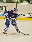 4 January 2014:  Yale University Bulldog forward Nicholas Weberg, a Junior from Oslo, Norway, in third period action against the University of Vermont Catamounts at Gutterson Fieldhouse in Burlington, Vermont. With an empty net and seconds remaining, the Cats came back to tie the game 3-3 against the 10th seeded Bulldogs. Mandatory Credit: Ed Wolfstein Photo *** RAW (NEF) Image File Available ***