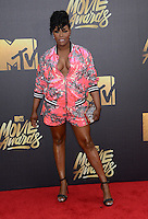 Ta' Rhonda Jones @ the 2016 MTV Movie Awards held @ the Warner studios.<br /> April 9, 2016