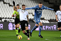 Matteo Ricci of Spezia Calcio and Josip Ilicic of Atalanta BC compete for the ball during the Serie A football match between Spezia Calcio and Atalanta BC at Dino Manuzzi stadium in Cesena (Italy), November 20th, 2020. Photo Andrea Staccioli / Insidefoto