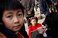 CHINA. Jiangxi Province.  Jiujiang. Jiujiang is a city of 4.6 million people, located on the southern shore of the Yangtze River.  2008