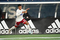 FOXBOROUGH, MA - OCTOBER 16: Edwin Cerrillo #33 of North Texas SC during a game between North Texas SC and New England Revolution II at Gillette Stadium on October 16, 2020 in Foxborough, Massachusetts.