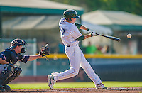 1 September 2013: Vermont Lake Monsters outfielder Tyler Marincov in action during a game against the Connecticut Tigers at Centennial Field in Burlington, Vermont. The Lake Monsters fell to the Tigers 6-4 in 10 innings of NY Penn League action. Mandatory Credit: Ed Wolfstein Photo *** RAW Image File Available ****