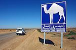 Estrada no deserto do Saara. Chebika. Tunisia. 2009. Foto de Caio Vilela.