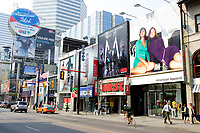 Toronto (ON) CANADA, April 24, 2007....Giant advertising billboards atop stores on Yonge Street  north of  Dundas in downtown Toronto....photo by Pierre Roussel - Images Distribution