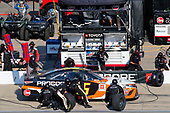 #95: Christopher Bell, Leavine Family Racing, Toyota Camry Procore pit stop