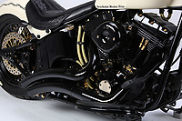BNPS.co.uk (01202 558833)<br /> Pic: Bonhams/BNPS<br /> <br /> Massive 1570 cc engine should provide the Pontiff with ample power....<br /> <br /> Holy Davidson - They may be a symbol of the Hells Angels movement but a Harley Davidson hand signed by the Pope has emerged for sale for £100,000.<br /> <br /> The 1,570cc 'holy Davidson' was built in 2016 having been commissioned by Dr Thomas Draxler, founder of the 'Jesus Bikers' group in Austria.<br /> <br /> It has spent its life with the group before it was taken to the Vatican and donated to the Papacy in July this year.