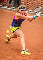 Amstelveen, Netherlands, 5  Juli, 2021, National Tennis Center, NTC, Amstelveen Womans Open, Scholl, Chiara<br /> USA,  Prisacariu, Andreea<br /> [12]ROU<br /> <br /> Photo: Henk Koster/tennisimages.com