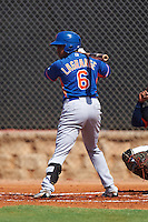 GCL Mets left fielder Wagner Lagrange (6) at bat during the first game of a doubleheader against the GCL Astros on August 5, 2016 at Osceola County Stadium Complex in Kissimmee, Florida.  GCL Astros defeated the GCL Mets 4-1 in the continuation of a game started on July 21st and postponed due to inclement weather.  (Mike Janes/Four Seam Images)