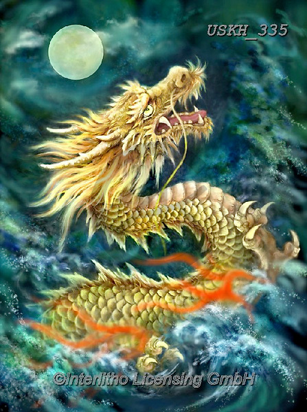 Kayomi, REALISTIC ANIMALS, REALISTISCHE TIERE, ANIMALES REALISTICOS, paintings+++++,USKH335,#a#, EVERYDAY ,fantasy,dragon,dragons